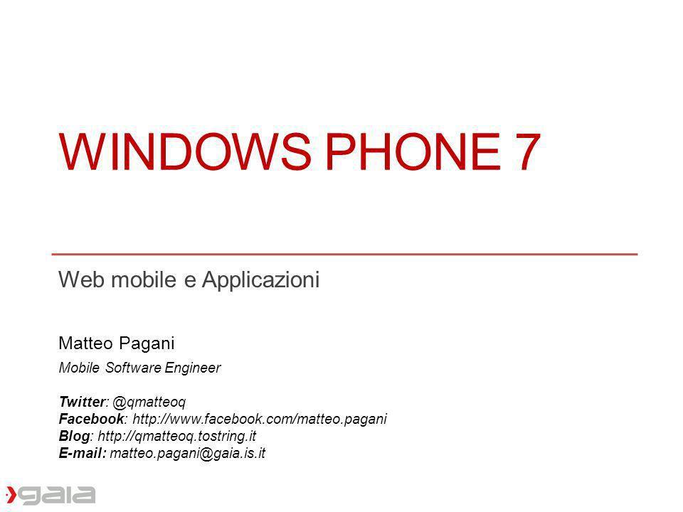 Web mobile e Applicazioni