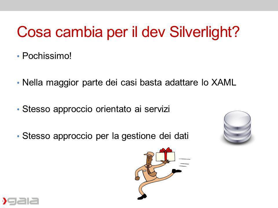 Cosa cambia per il dev Silverlight