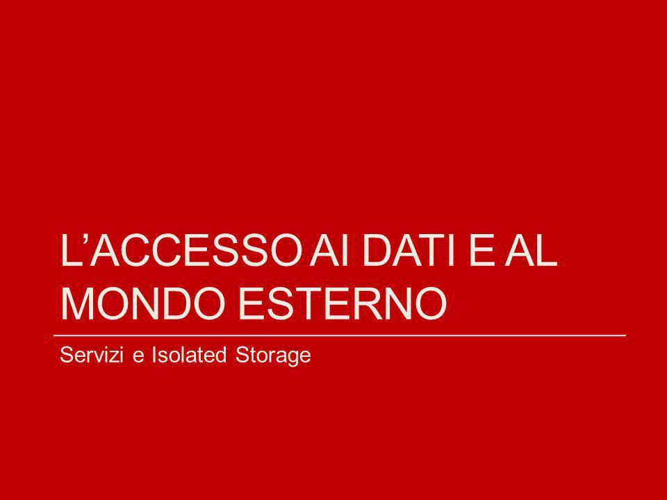 L'ACCESSO AI dati E AL MONDO ESTERNO