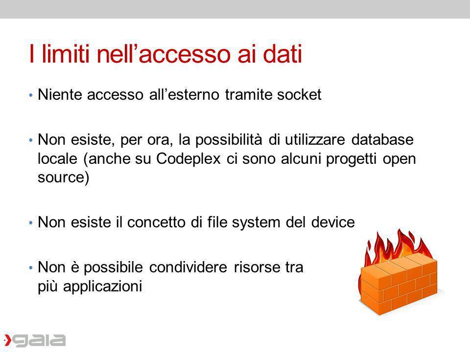 I limiti nell'accesso ai dati