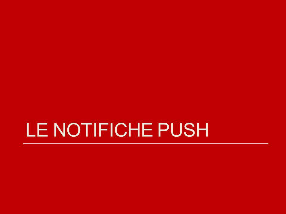 Le notifiche push