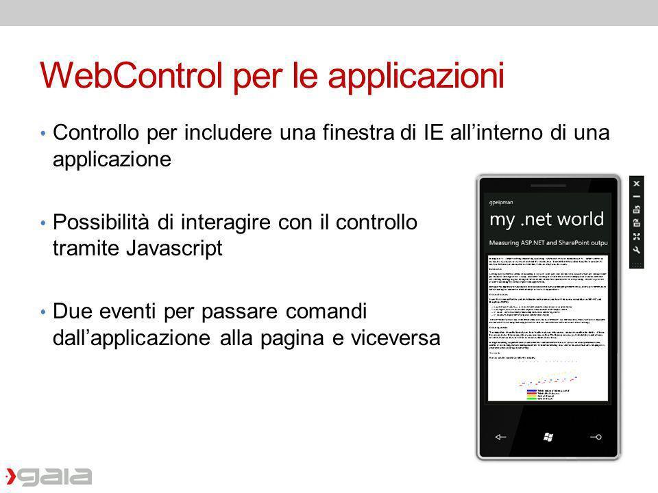 WebControl per le applicazioni