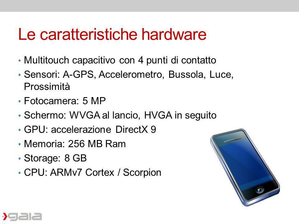 Le caratteristiche hardware