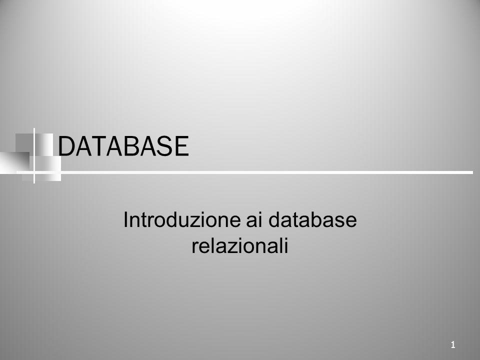 Introduzione ai database relazionali