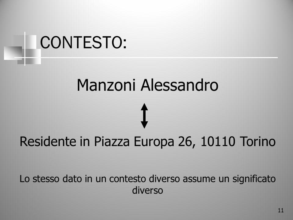 CONTESTO: Manzoni Alessandro