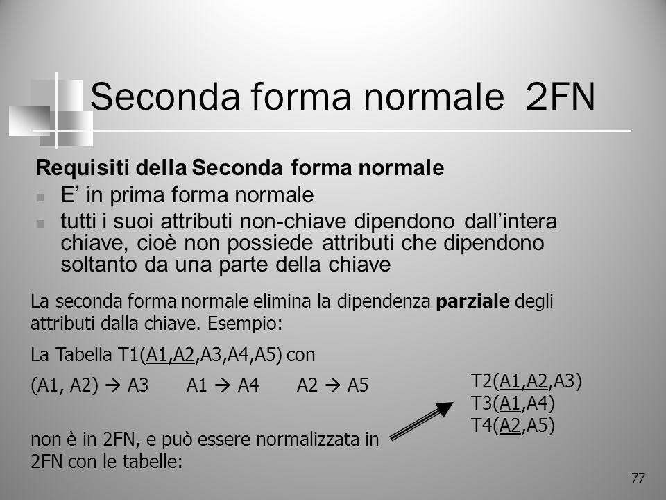 Seconda forma normale 2FN