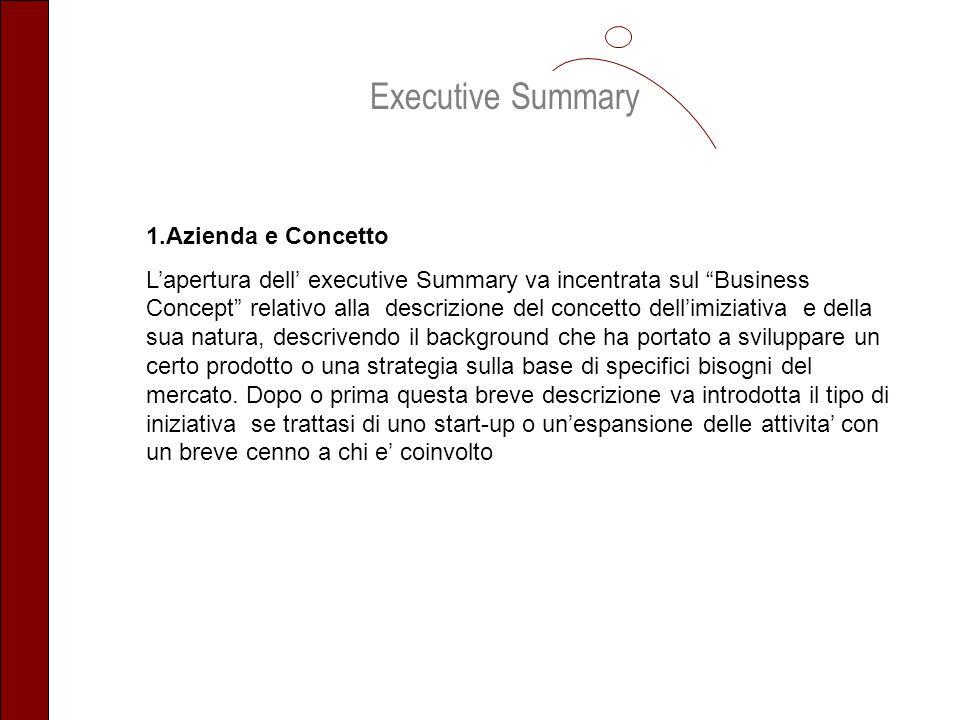Executive Summary 1.Azienda e Concetto