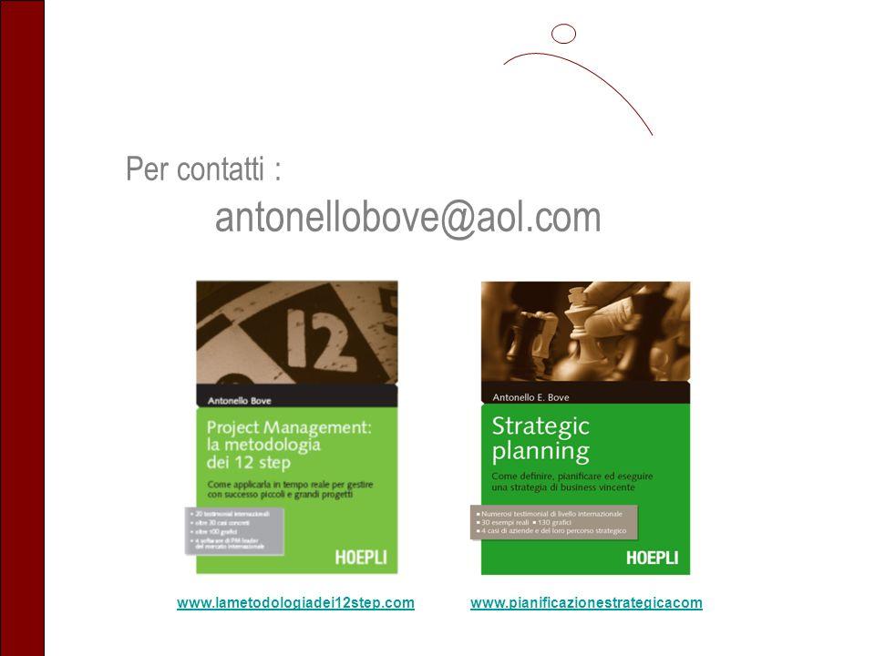 antonellobove@aol.com Per contatti : www.lametodologiadei12step.com