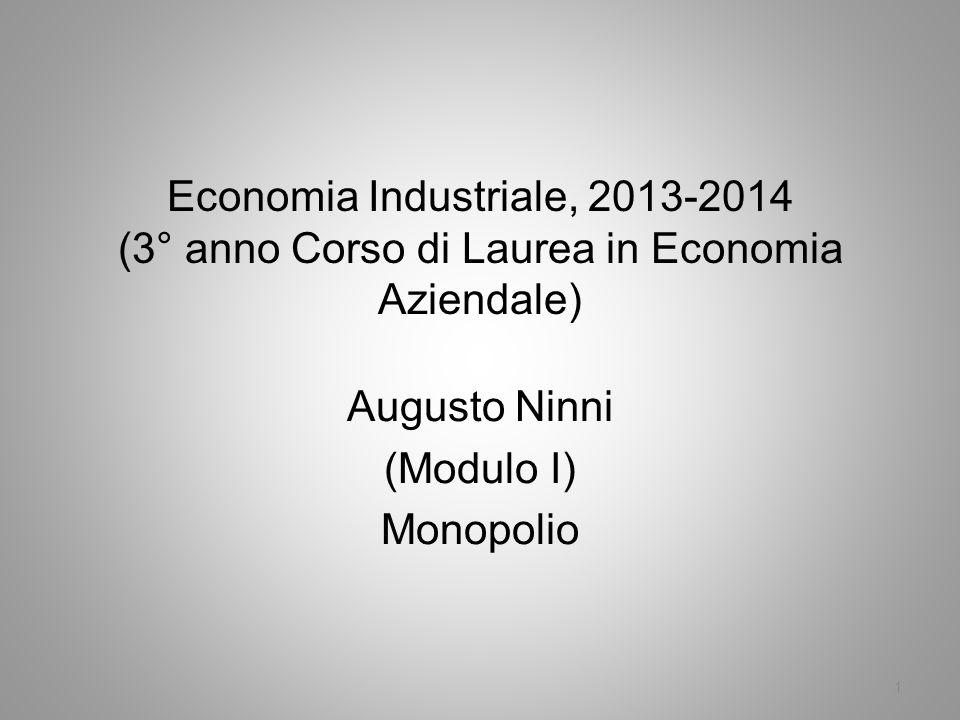 Augusto Ninni (Modulo I) Monopolio