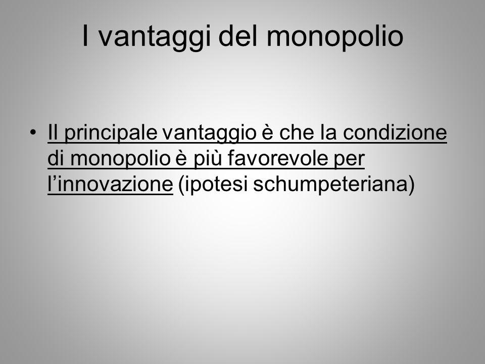 I vantaggi del monopolio
