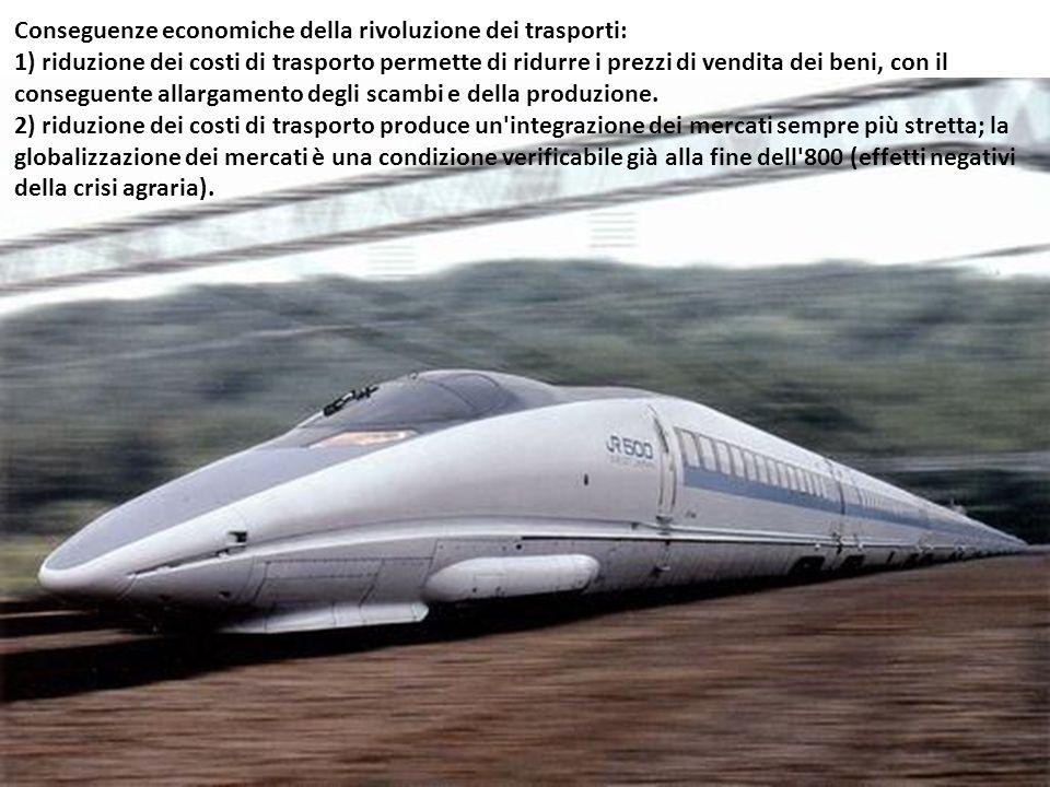 Conseguenze economiche della rivoluzione dei trasporti: