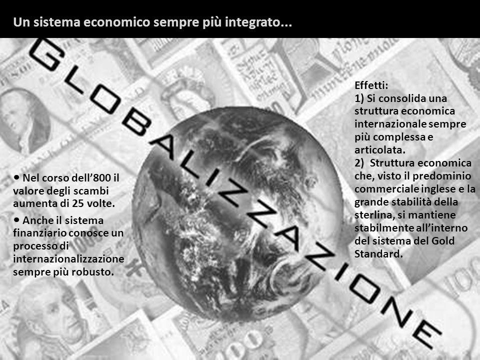 Un sistema economico sempre più integrato...