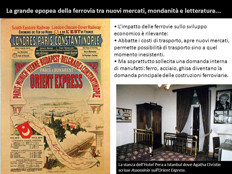 La grande epopea della ferrovia tra nuovi mercati, mondanità e letteratura...