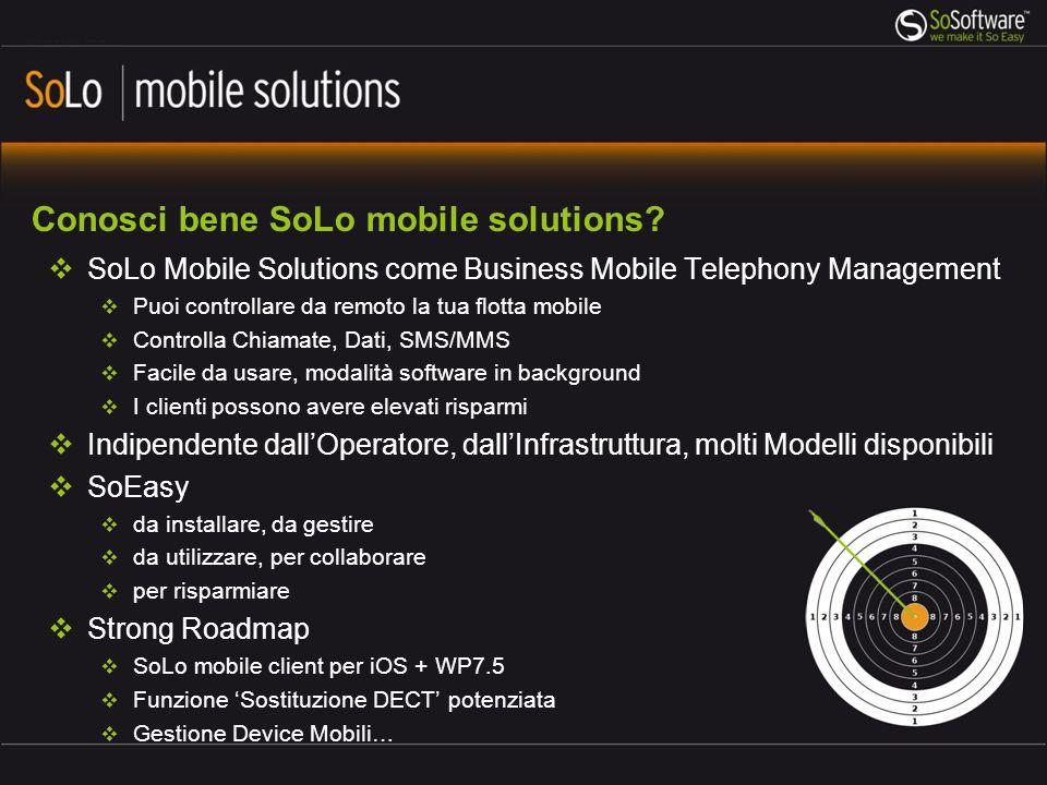 Conosci bene SoLo mobile solutions
