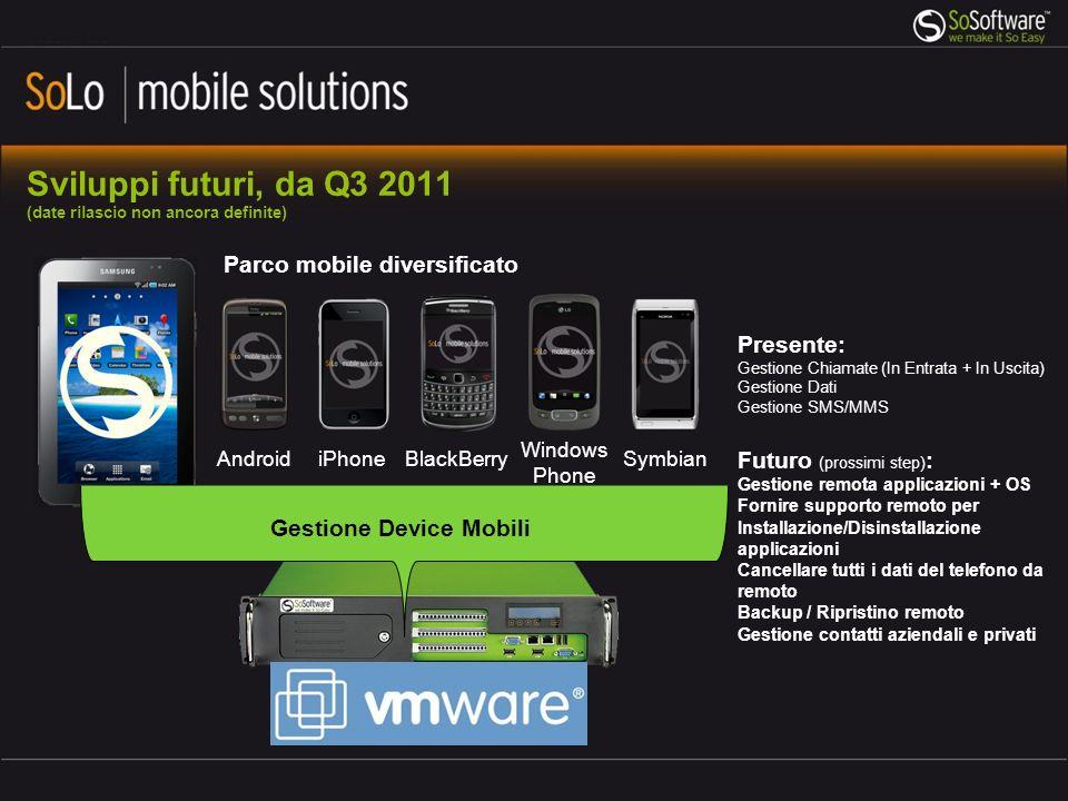 Sviluppi futuri, da Q3 2011 (date rilascio non ancora definite)