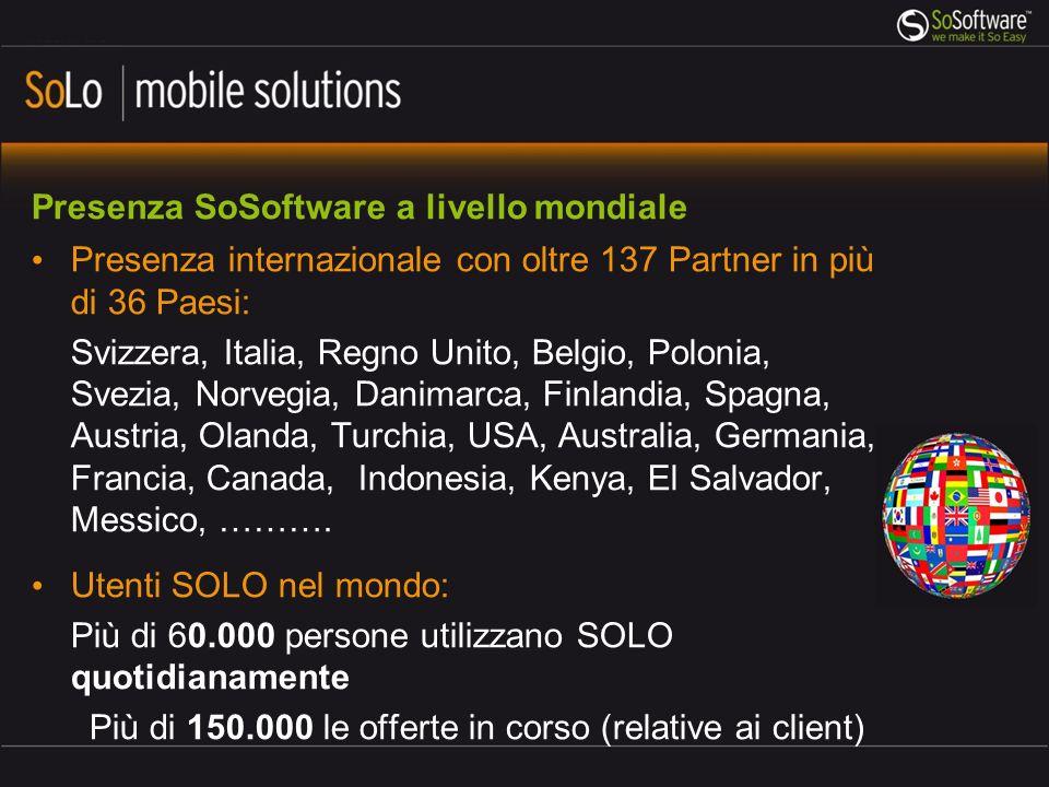 Presenza SoSoftware a livello mondiale