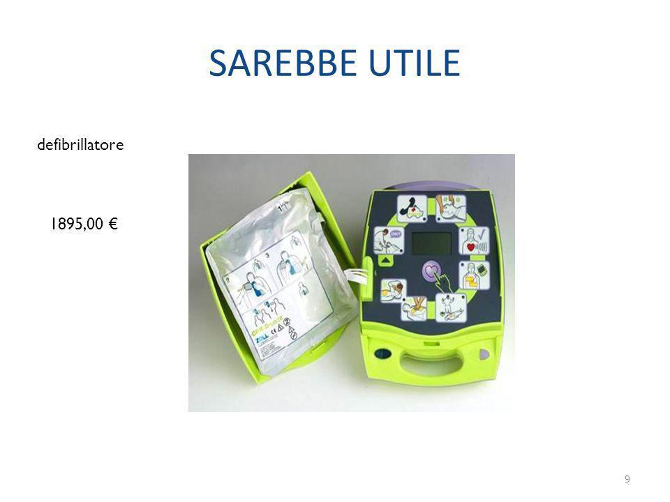 SAREBBE UTILE defibrillatore 1895,00 €