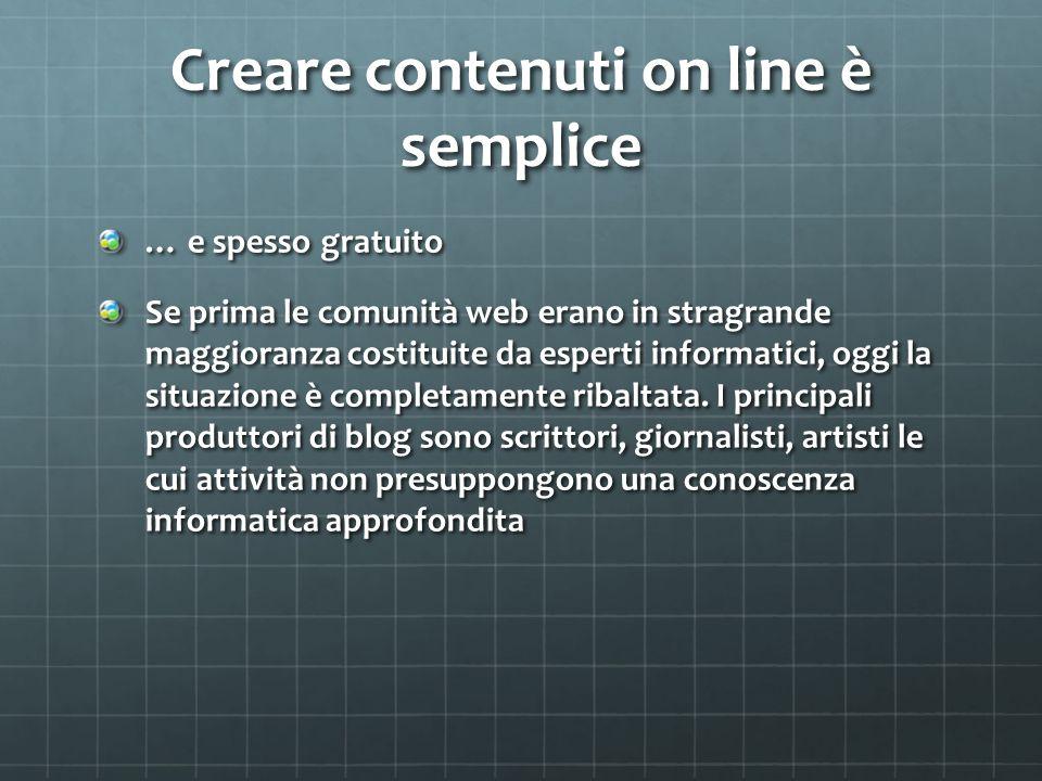 Creare contenuti on line è semplice