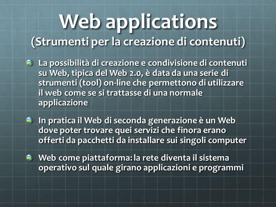 Web applications (Strumenti per la creazione di contenuti)