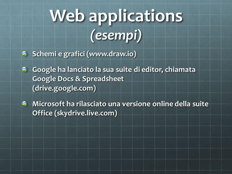 Web applications (esempi)