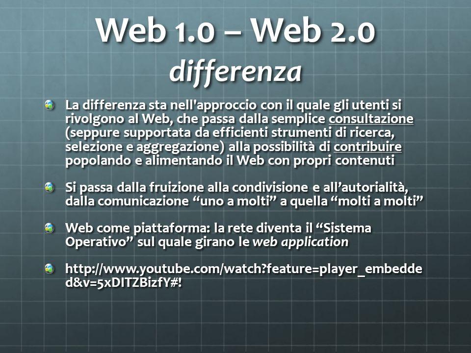 Web 1.0 – Web 2.0 differenza