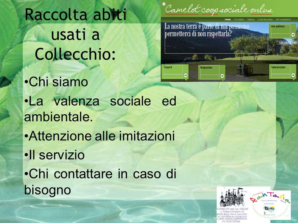 Raccolta abiti usati a Collecchio: