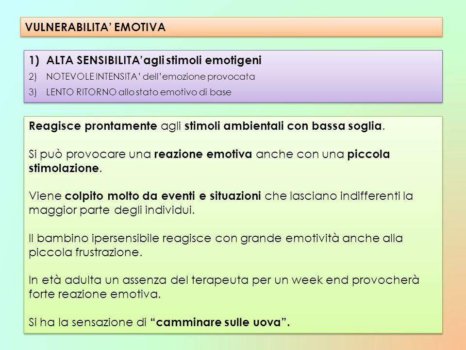 VULNERABILITA' EMOTIVA