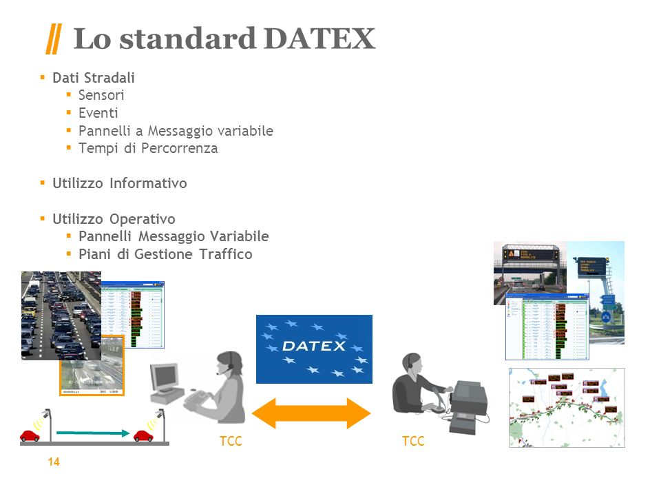 Lo standard DATEX Dati Stradali Sensori Eventi