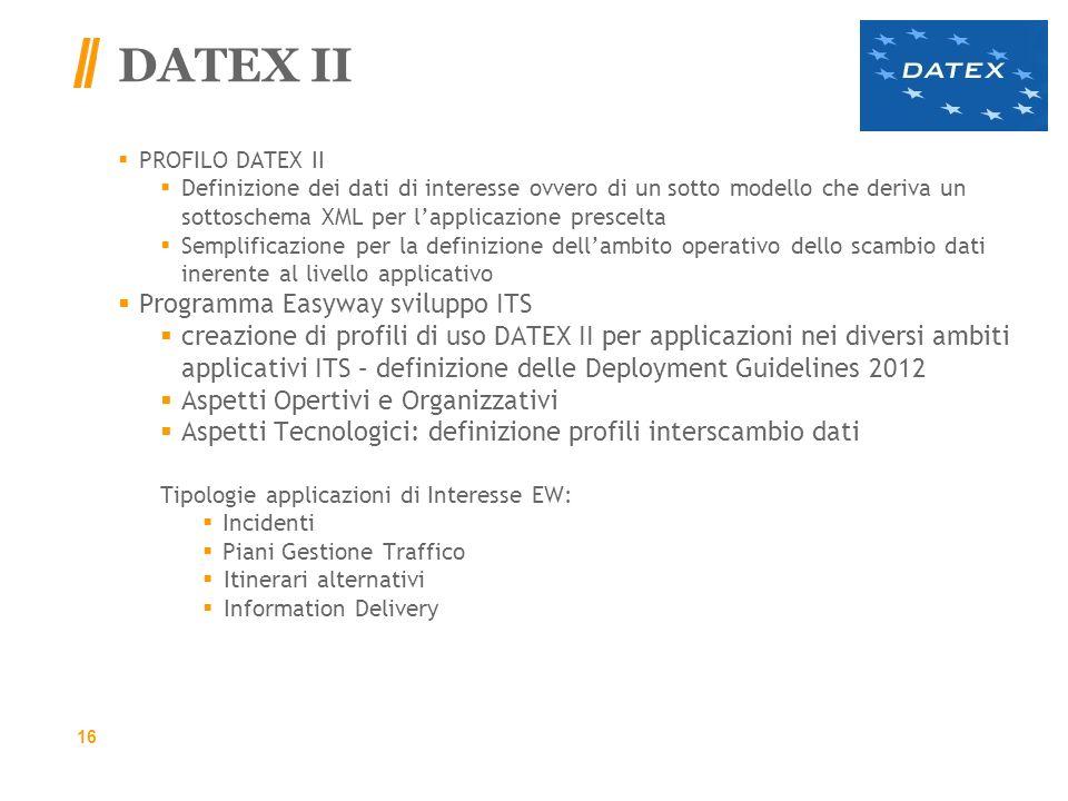 DATEX II Programma Easyway sviluppo ITS