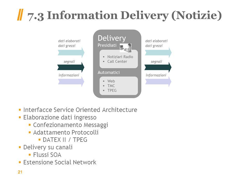 7.3 Information Delivery (Notizie)