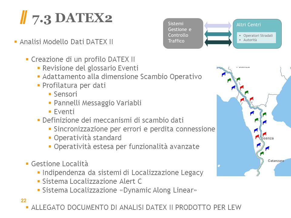 7.3 DATEX2 Analisi Modello Dati DATEX II