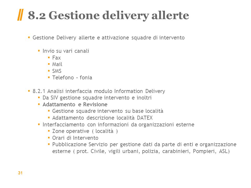 8.2 Gestione delivery allerte