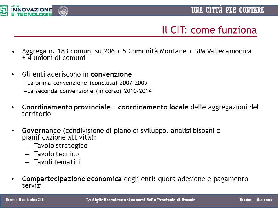 La digitalizzazione nei comuni della Provincia di Brescia
