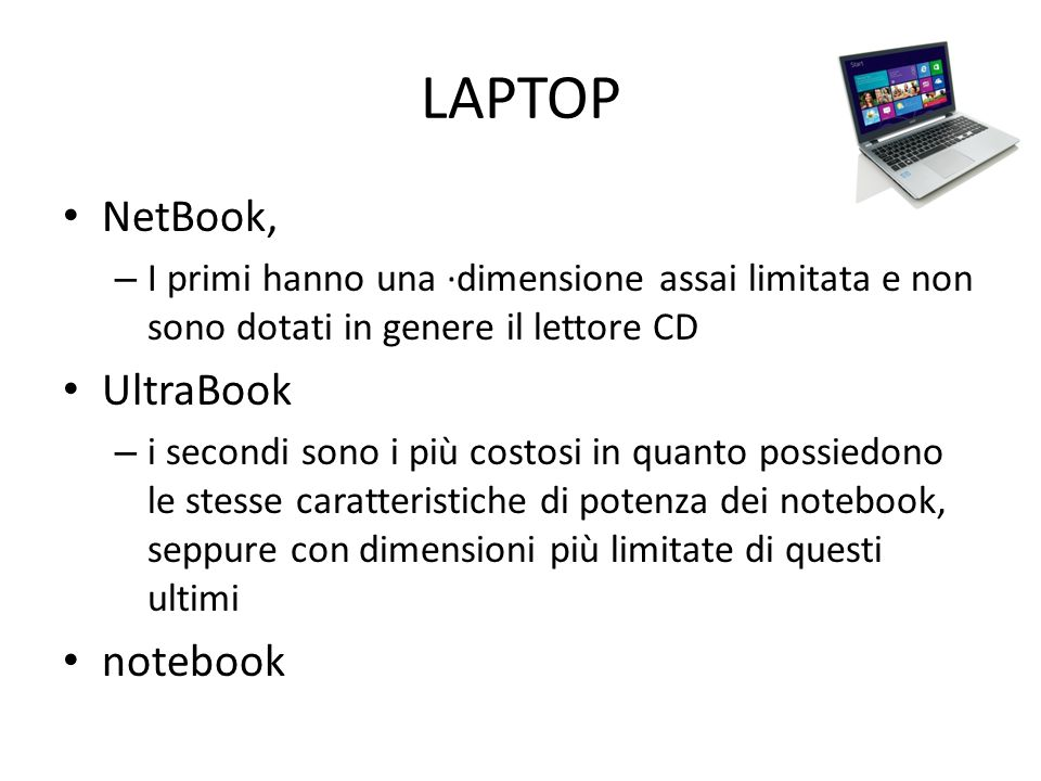 LAPTOP NetBook, UltraBook notebook