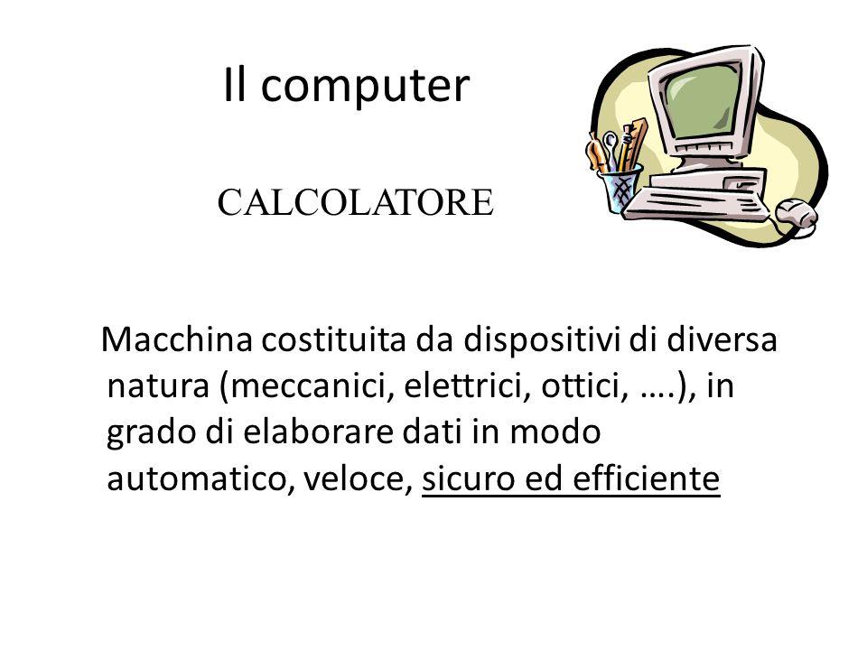 Il computer CALCOLATORE