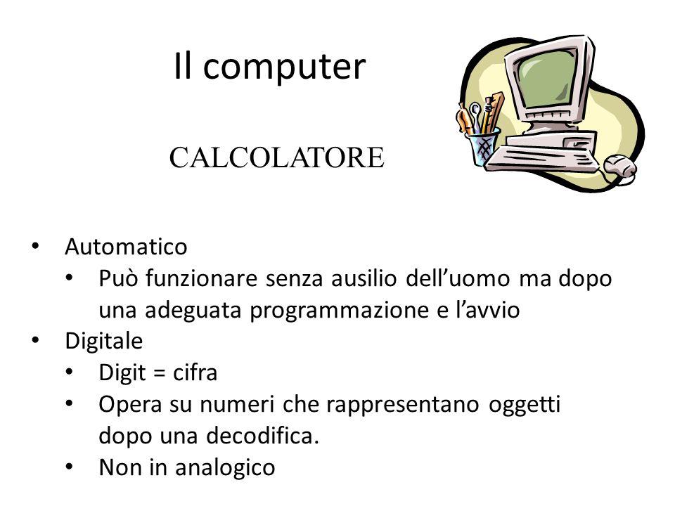 Il computer CALCOLATORE Automatico
