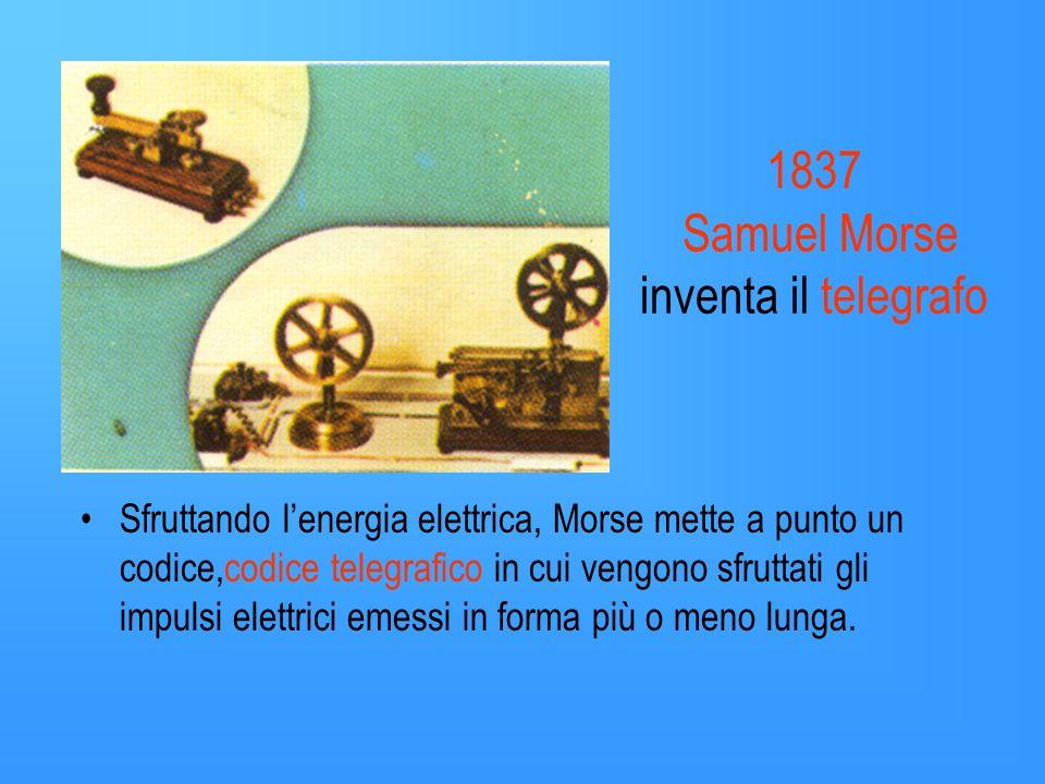 1837 Samuel Morse inventa il telegrafo