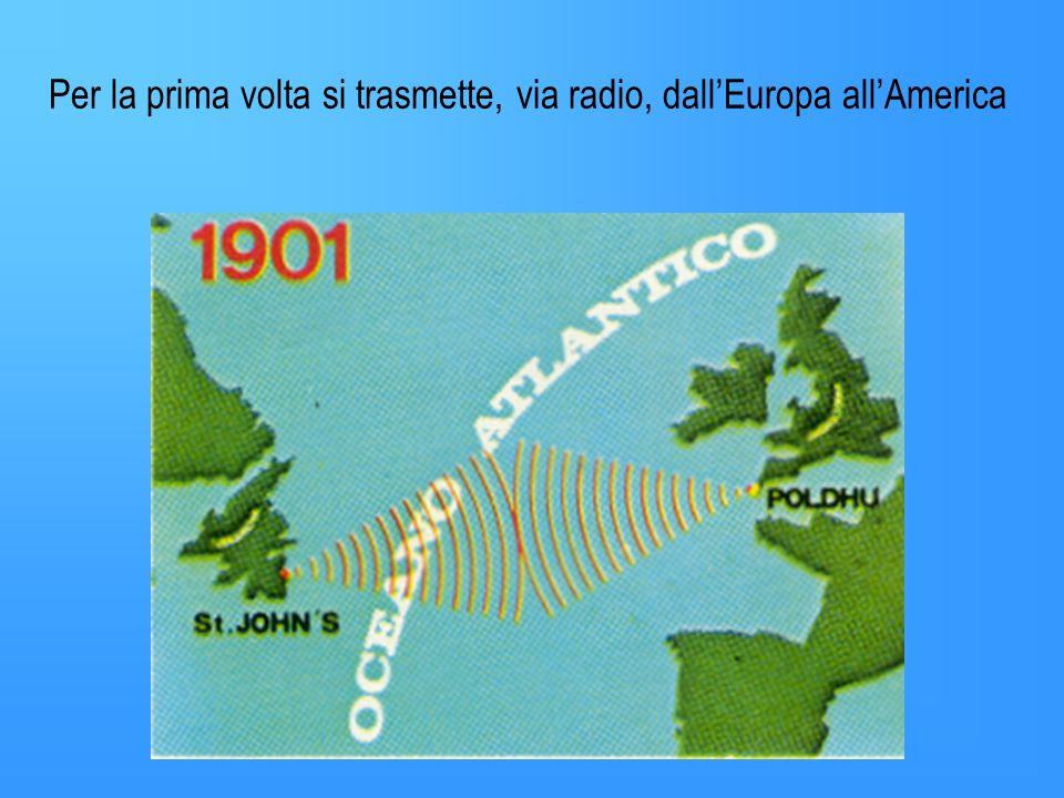 Per la prima volta si trasmette, via radio, dall'Europa all'America