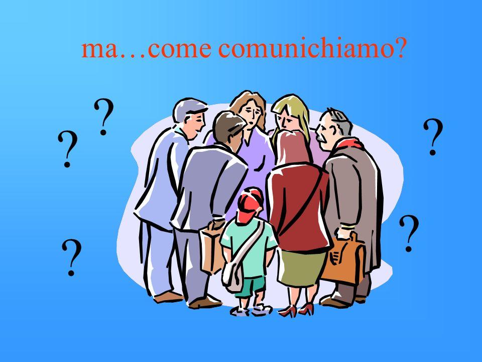 ma…come comunichiamo