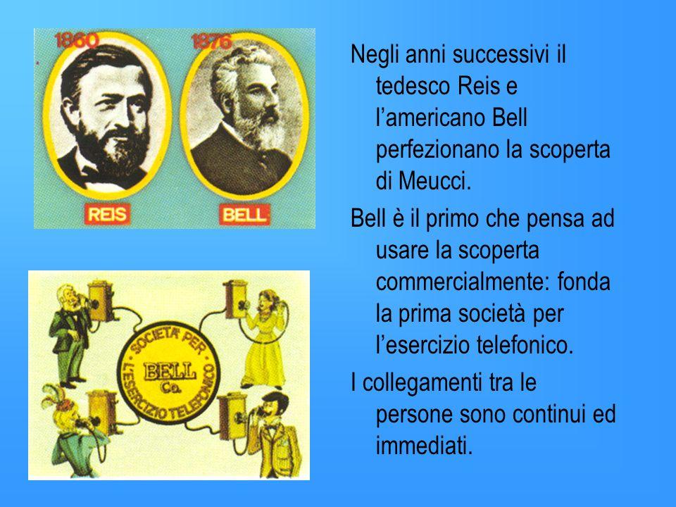 Negli anni successivi il tedesco Reis e l'americano Bell perfezionano la scoperta di Meucci.