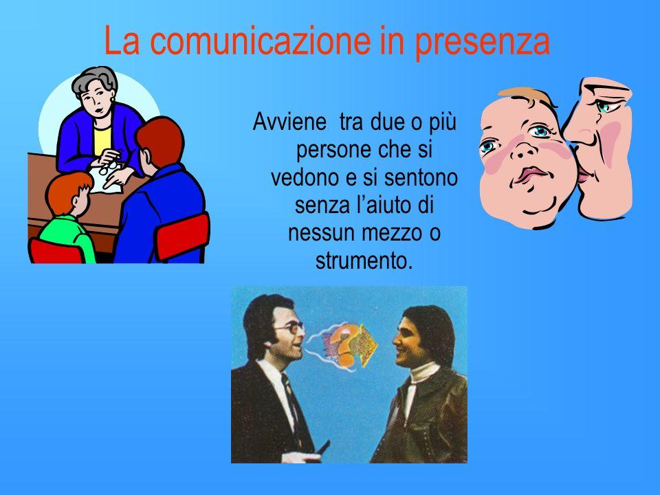 La comunicazione in presenza