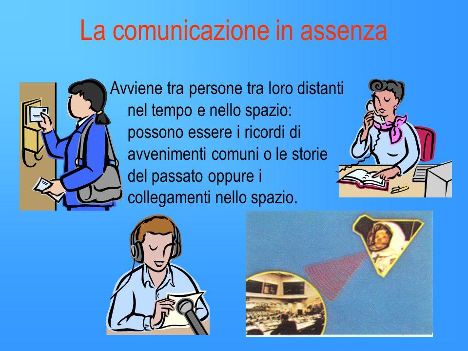 La comunicazione in assenza