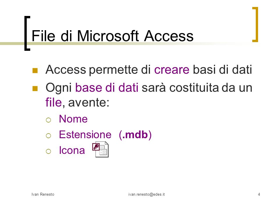 File di Microsoft Access