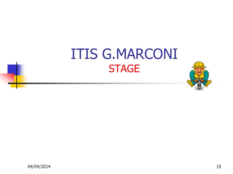 ITIS G.MARCONI STAGE 29/03/2017