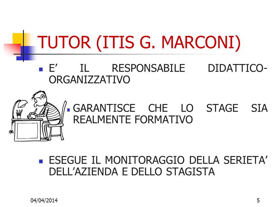 TUTOR (ITIS G. MARCONI) E' IL RESPONSABILE DIDATTICO-ORGANIZZATIVO