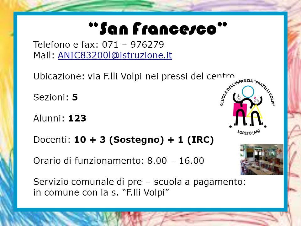 San Francesco Telefono e fax: 071 – 976279