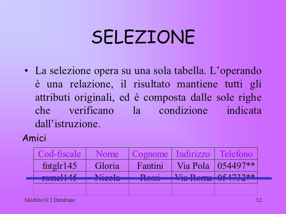 SELEZIONE