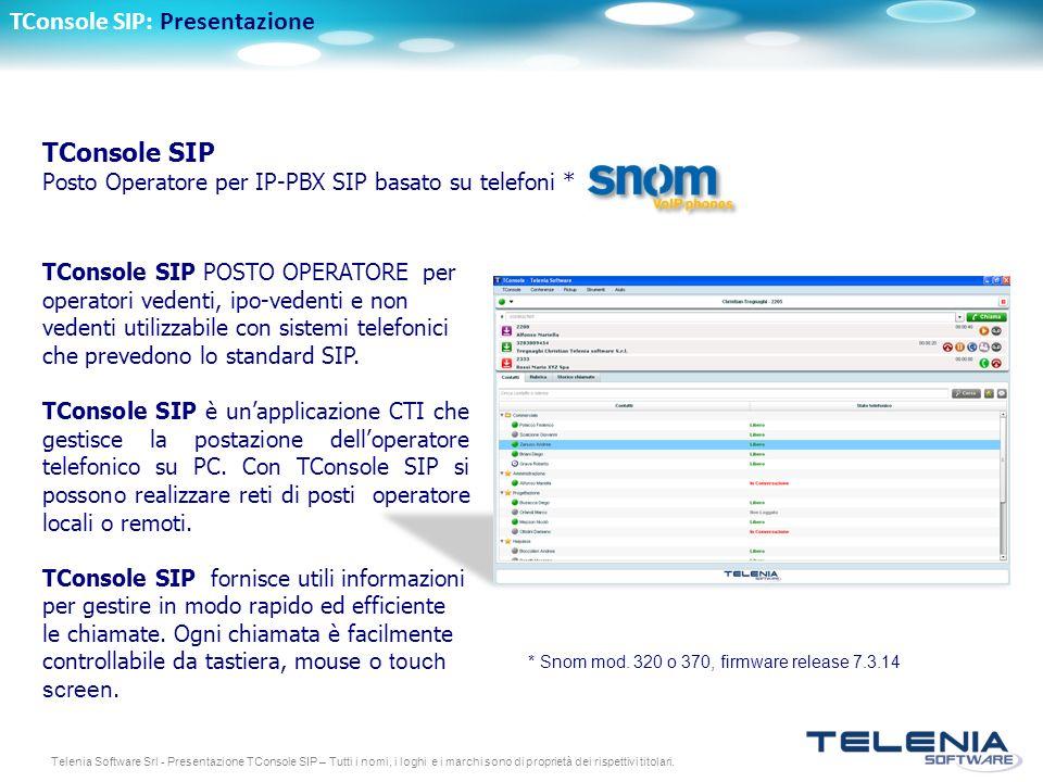 TConsole SIP: Presentazione