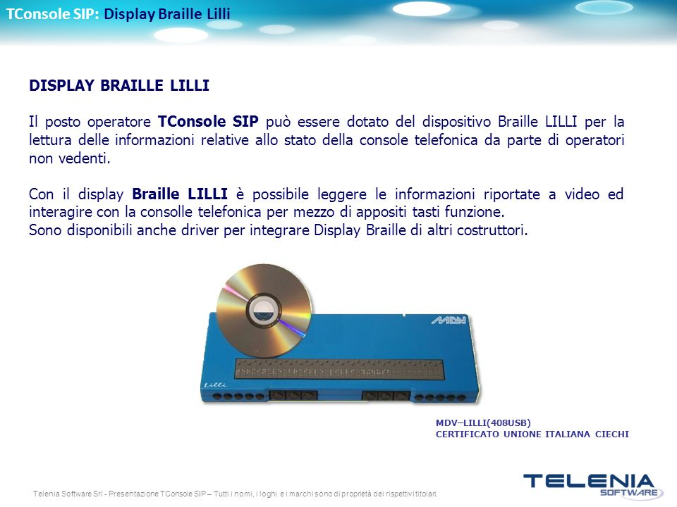 TConsole SIP: Display Braille Lilli