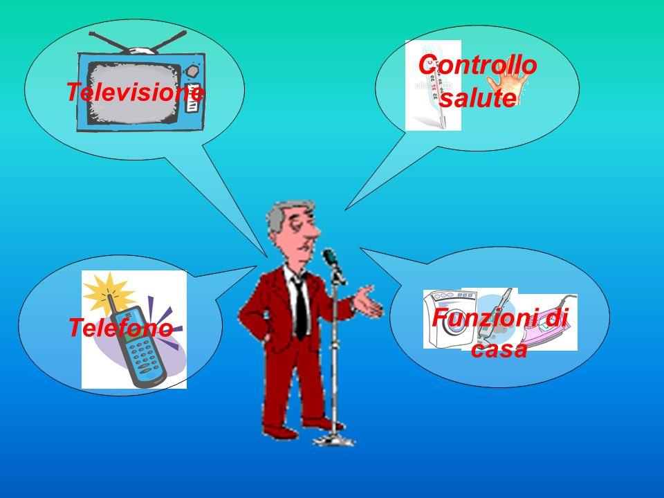 Televisione Controllo salute Funzioni di casa Telefono